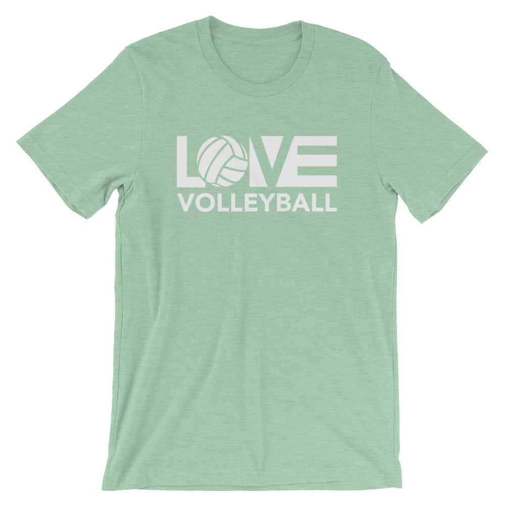 Prism Mint LOV=Volleyball Unisex Tee