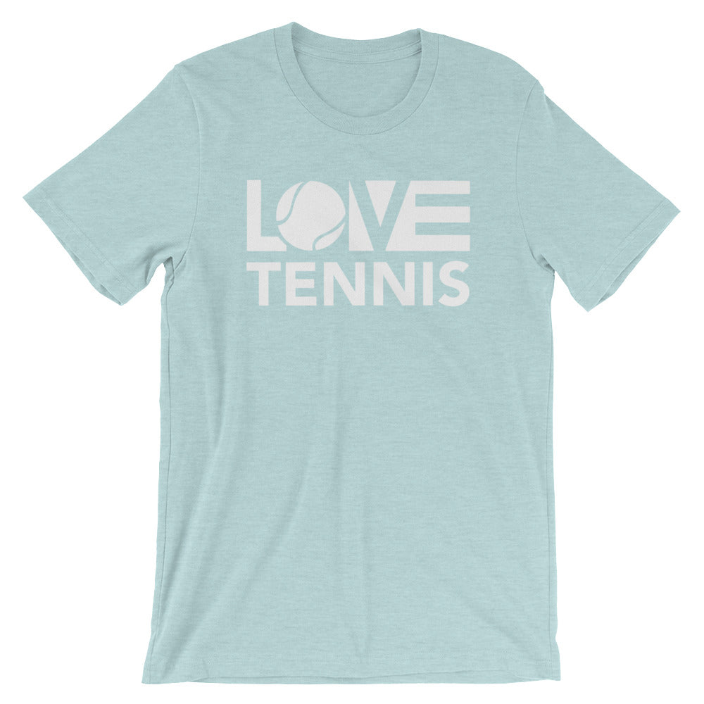 Ice blue LOV=Tennis Unisex Tee