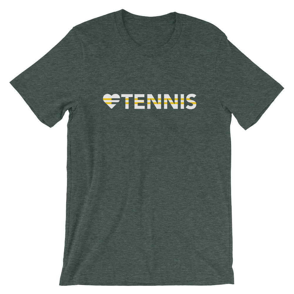 Heather forest Heart=Tennis Unisex Tee