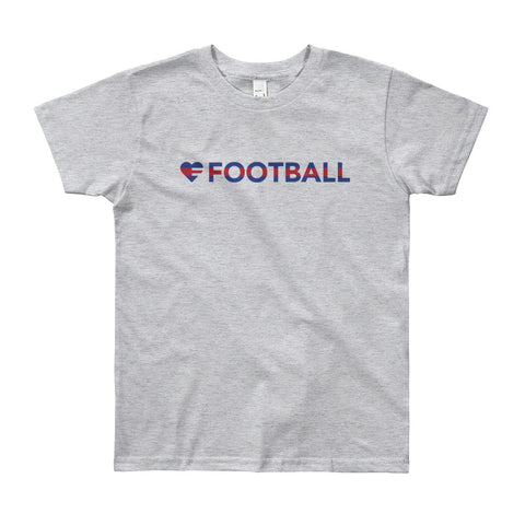 Heart=Football Youth Tee (8yrs-12yrs)