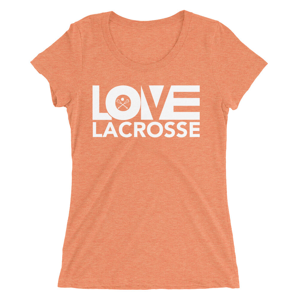 Orange LOV=Lacrosse Ultra Slim Fit Triblend Tee