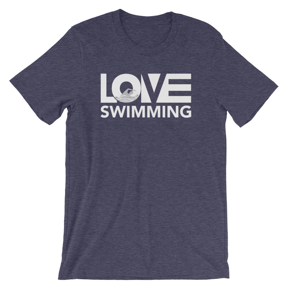 Midnight navy LOV=Swimming Unisex Tee