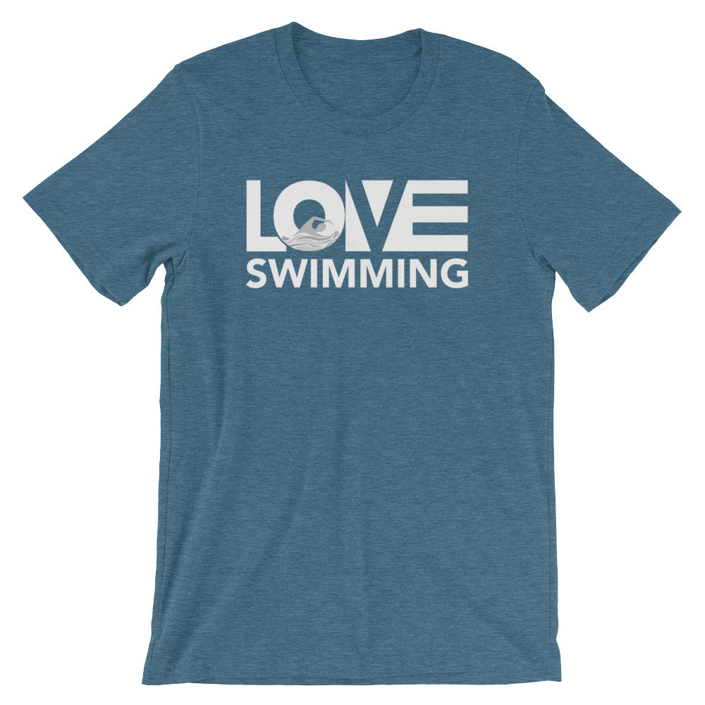 Deep teal LOV=Swimming Unisex Tee