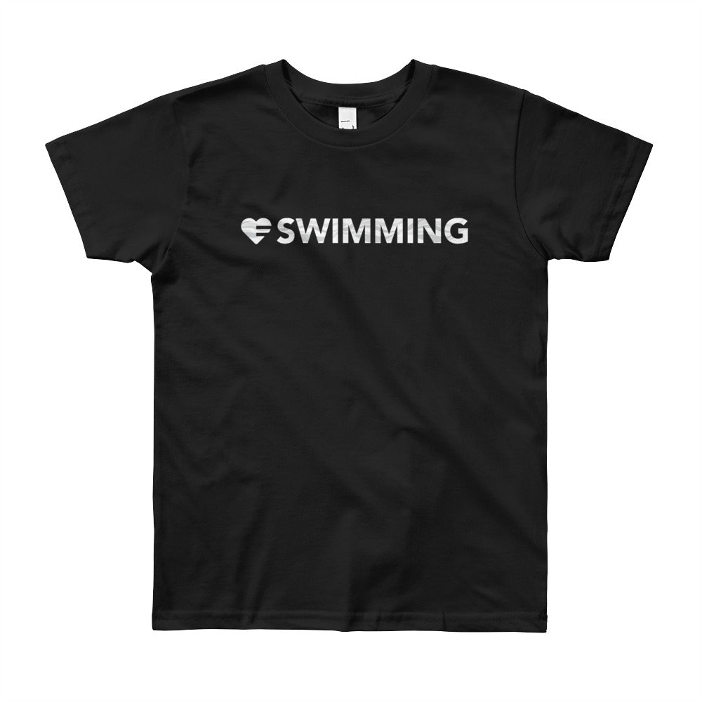 Black Heart=Swimming Youth Tee