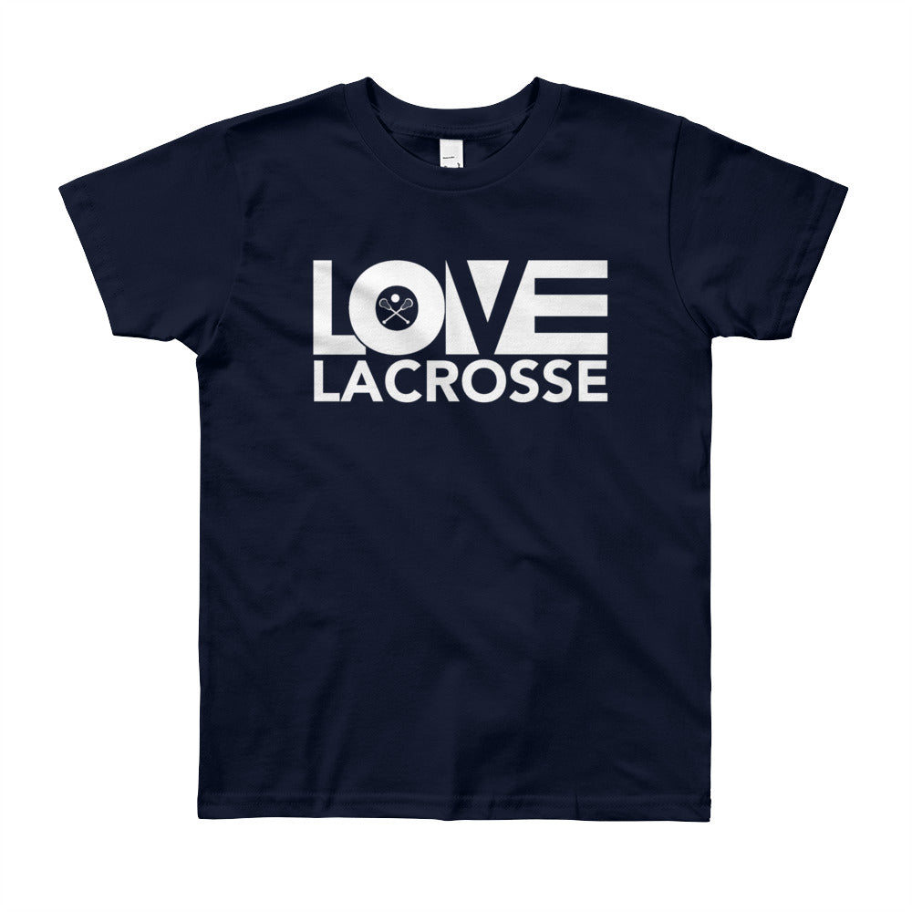 Navy LOV=Lacrosse Youth Tee