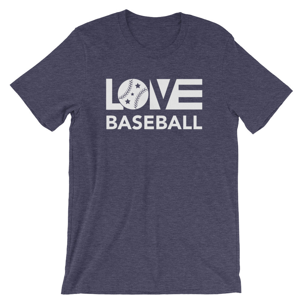 Midnight navy LOV=Baseball Unisex Tee