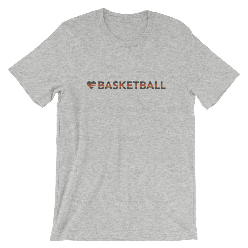 Athletic Heather Heart=Basketball Unisex Tee