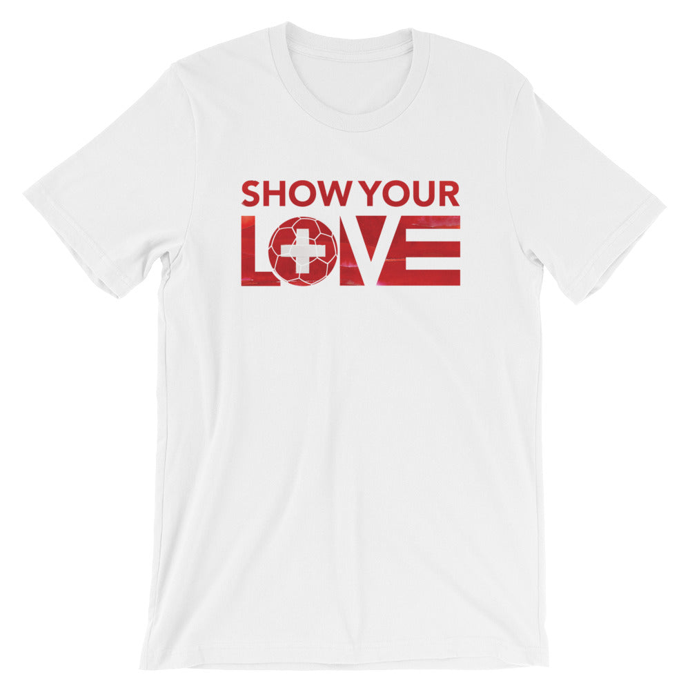 White Show Your Love Switzerland Unisex Tee