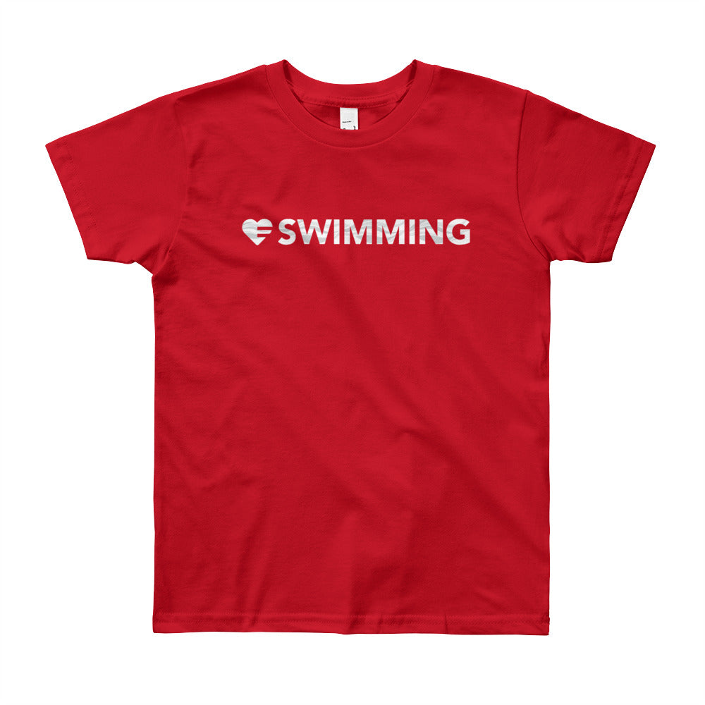 Red Heart=Swimming Youth Tee