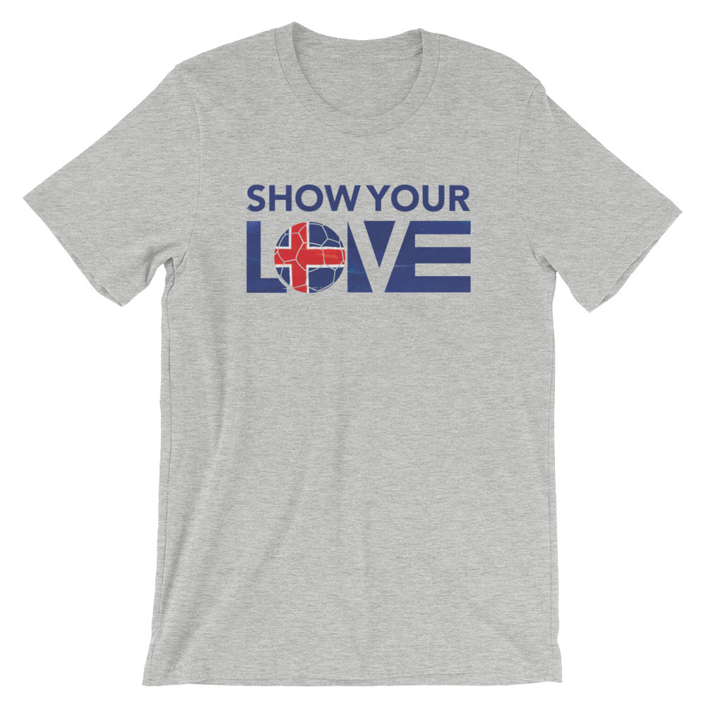 Athletic Heather Show Your Love Iceland Unisex Tee