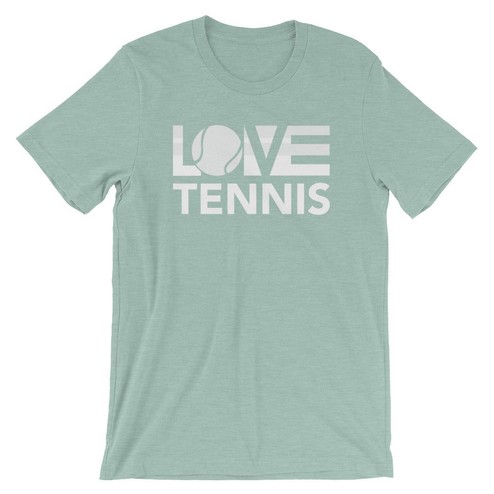 Prism dusty blue LOV=Tennis Unisex Tee