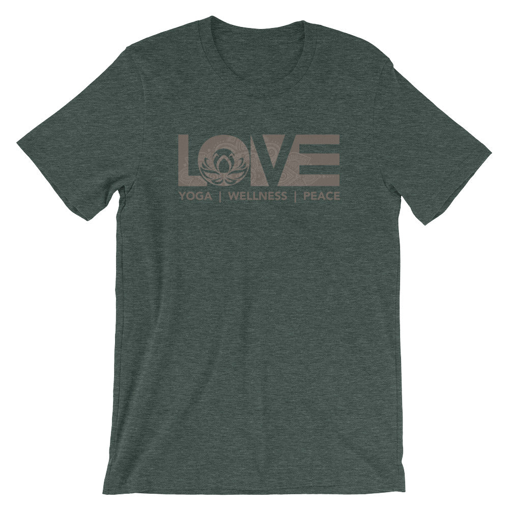Heather Forest LOV=Yoga Unisex Tee