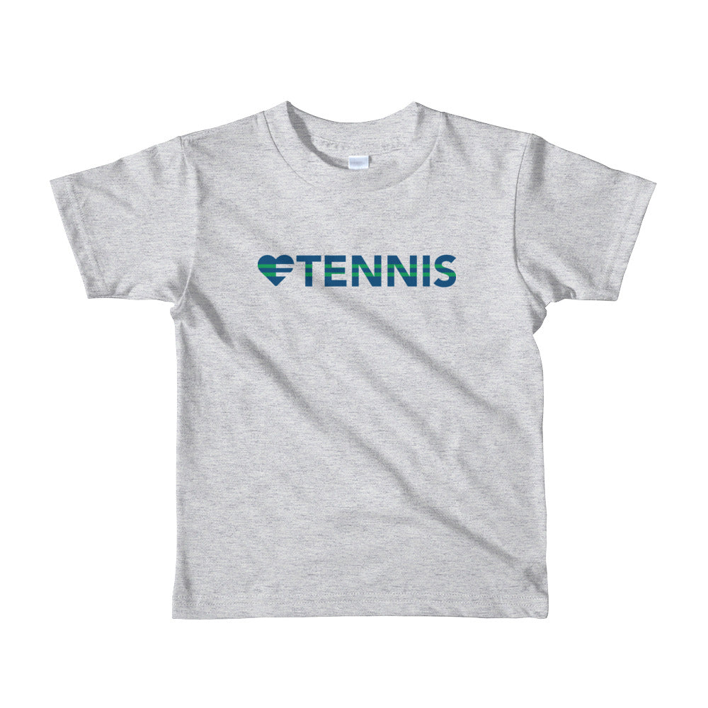 Heather grey Heart=Tennis Kids Tee