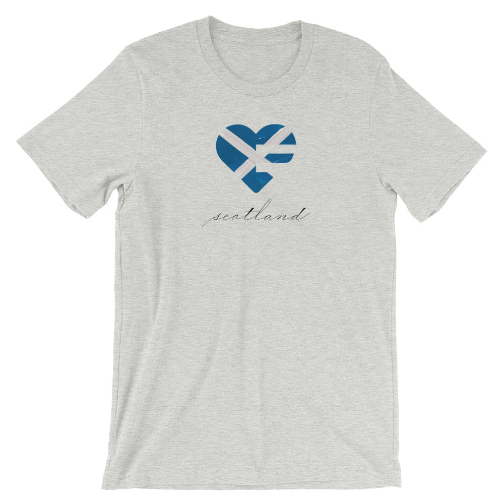 Athletic Heather Scotland Heart Unisex Tee