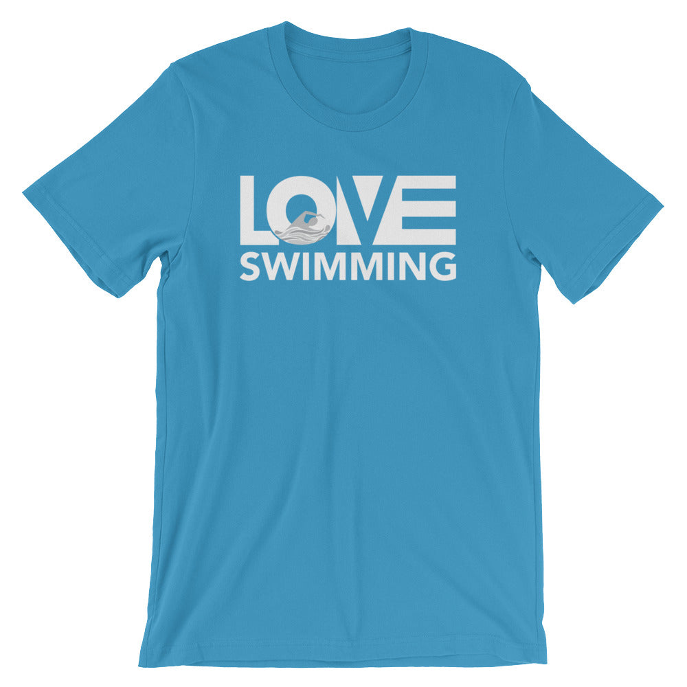 Ocean blue LOV=Swimming Unisex Tee