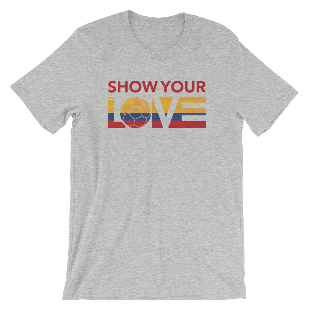 Athletic Heather Show Your Love Colombia Unisex Tee