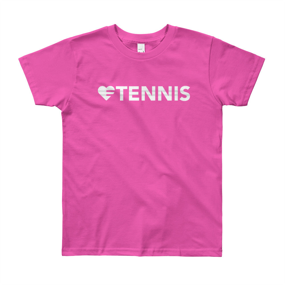 Fuchsia Heart=Tennis Youth Tee