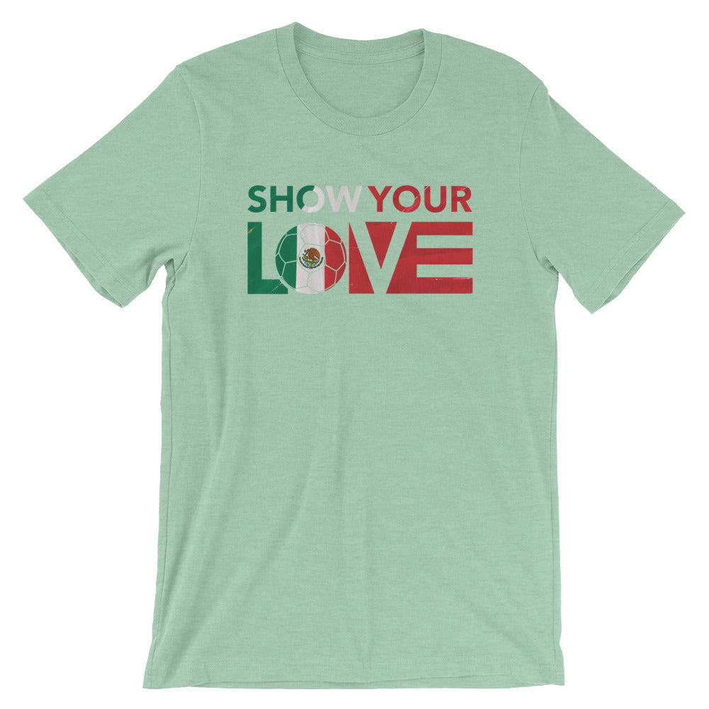 Heather Prism Mint Show Your Love Mexico Unisex Tee
