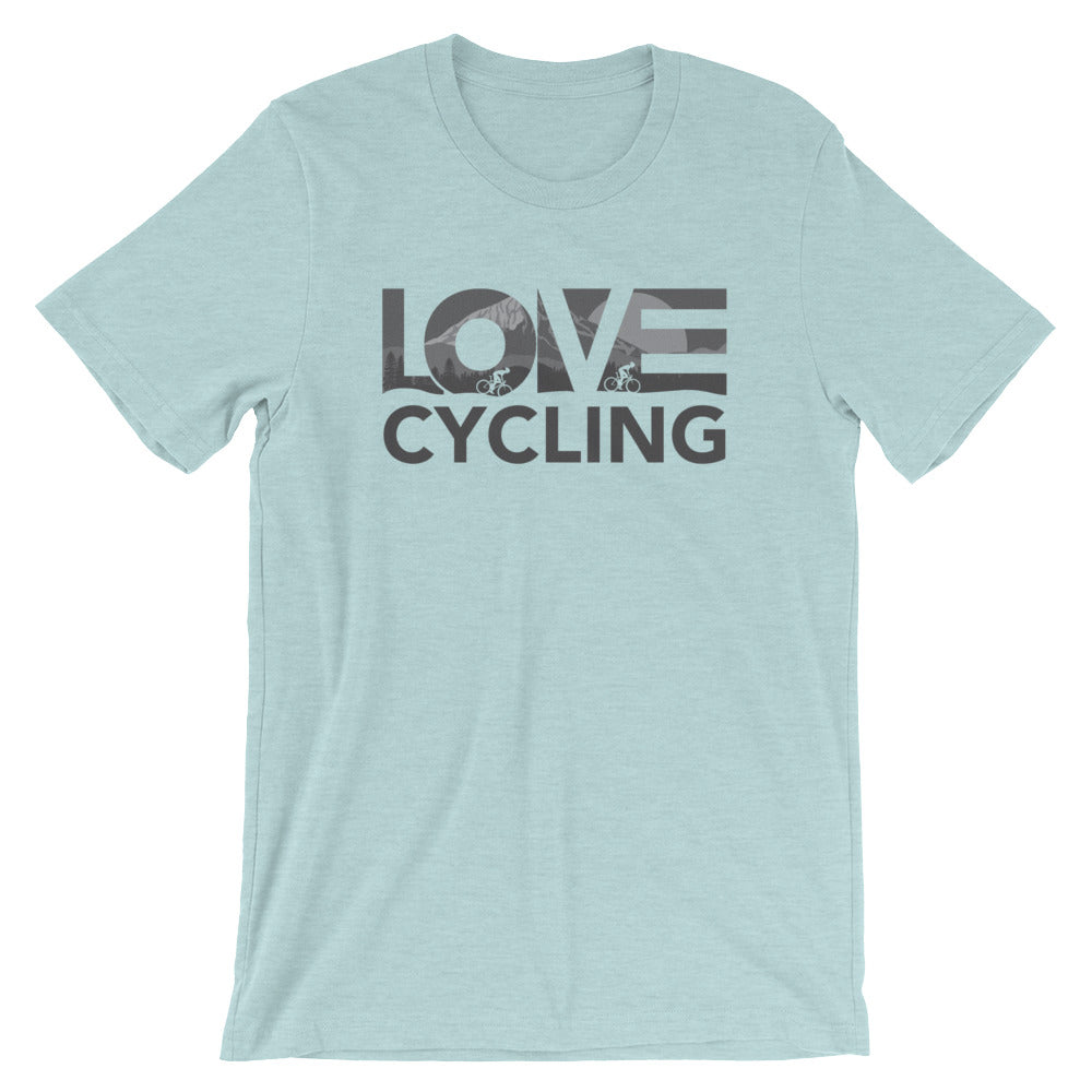 Ice blue LOV=Cycling Unisex Tee