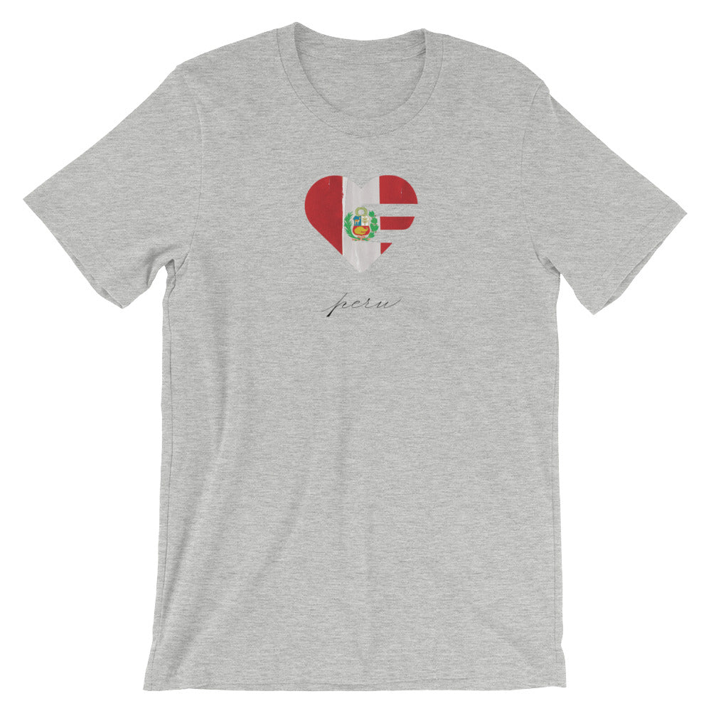 Athletic Heather Peru Heart Unisex Tee