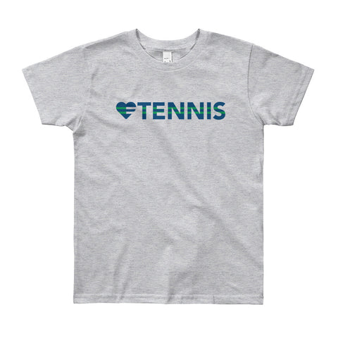 Heart=Tennis Youth Tee (8yrs-12yrs)