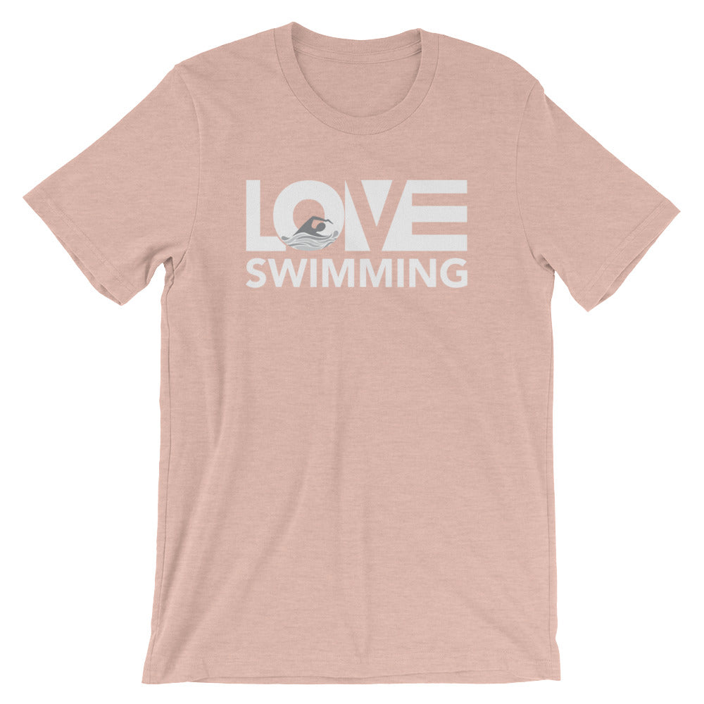 Prism peach LOV=Swimming Unisex Tee