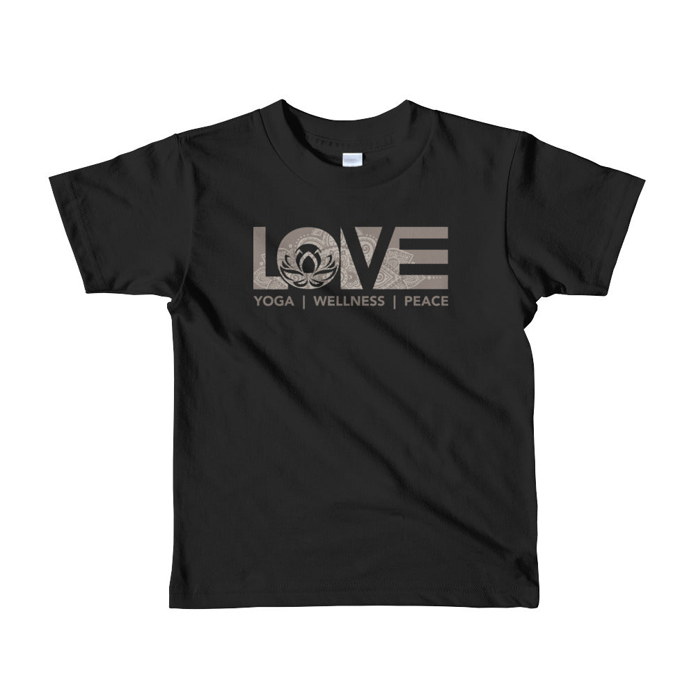Black LOV=Yoga Kids Tee