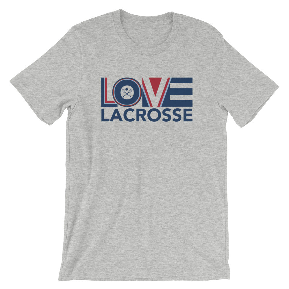 Athletic heather LOV=Lacrosse Unisex Tee