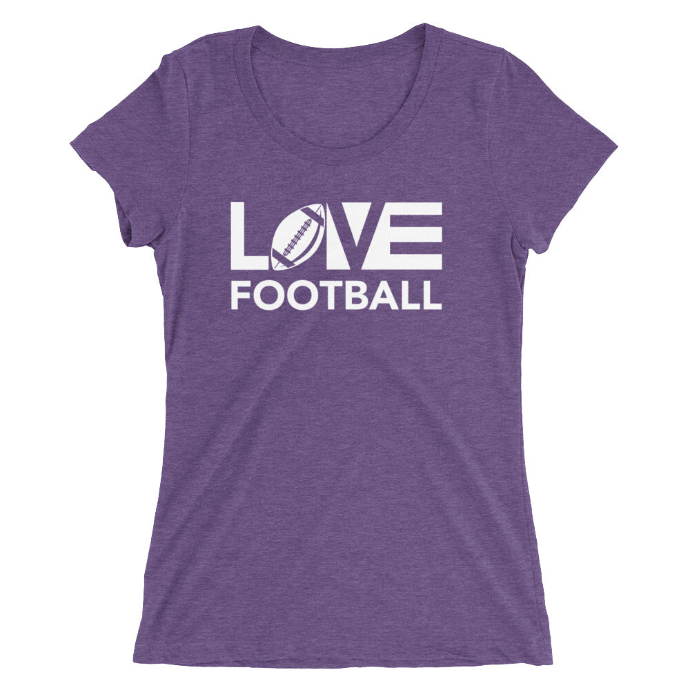 Purple LOV=Football Ultra Slim Fit Triblend Tee