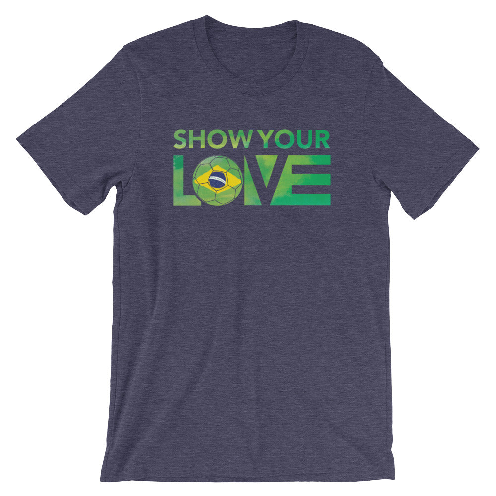 Heather Midnight Navy Show Your Love Brazil Unisex Tee