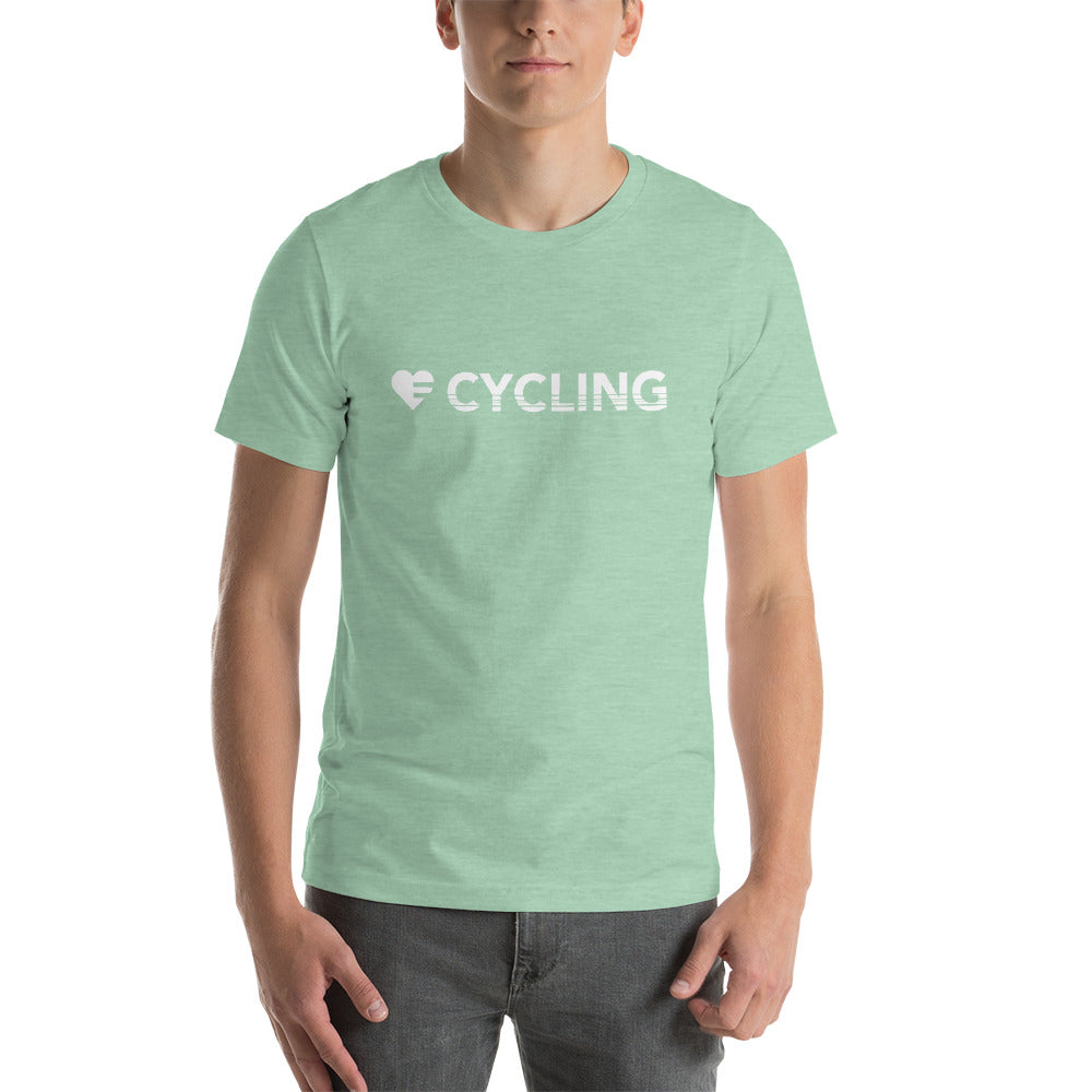 Heather Prism Mint Heart=Cycling Unisex Tee