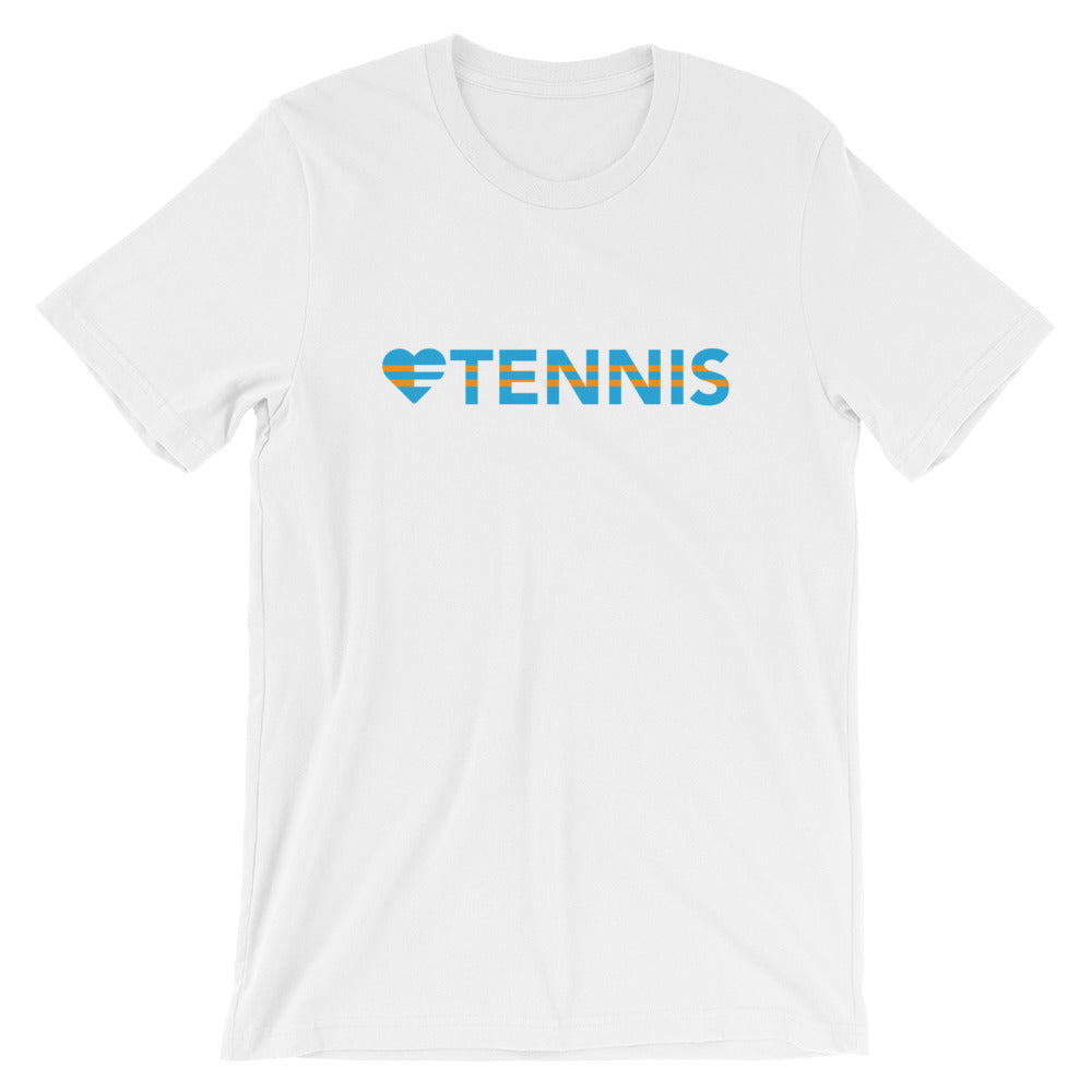White Heart=Tennis Unisex Tee