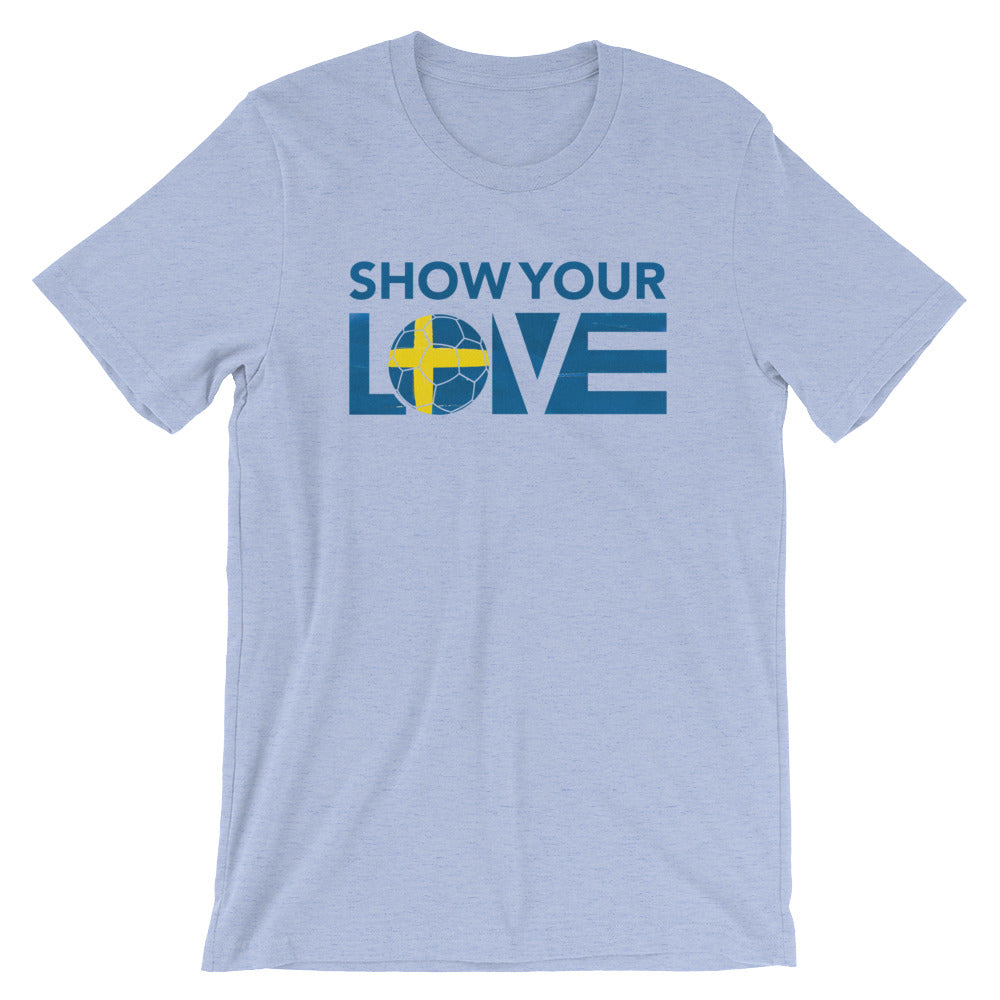Heather Blue Show Your Love Sweden Unisex Tee