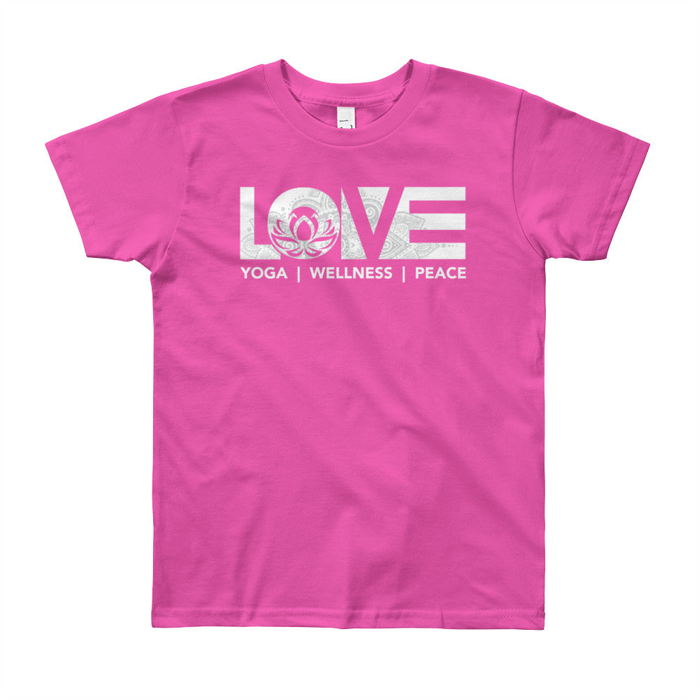Fuchsia LOV=Yoga Youth Tee