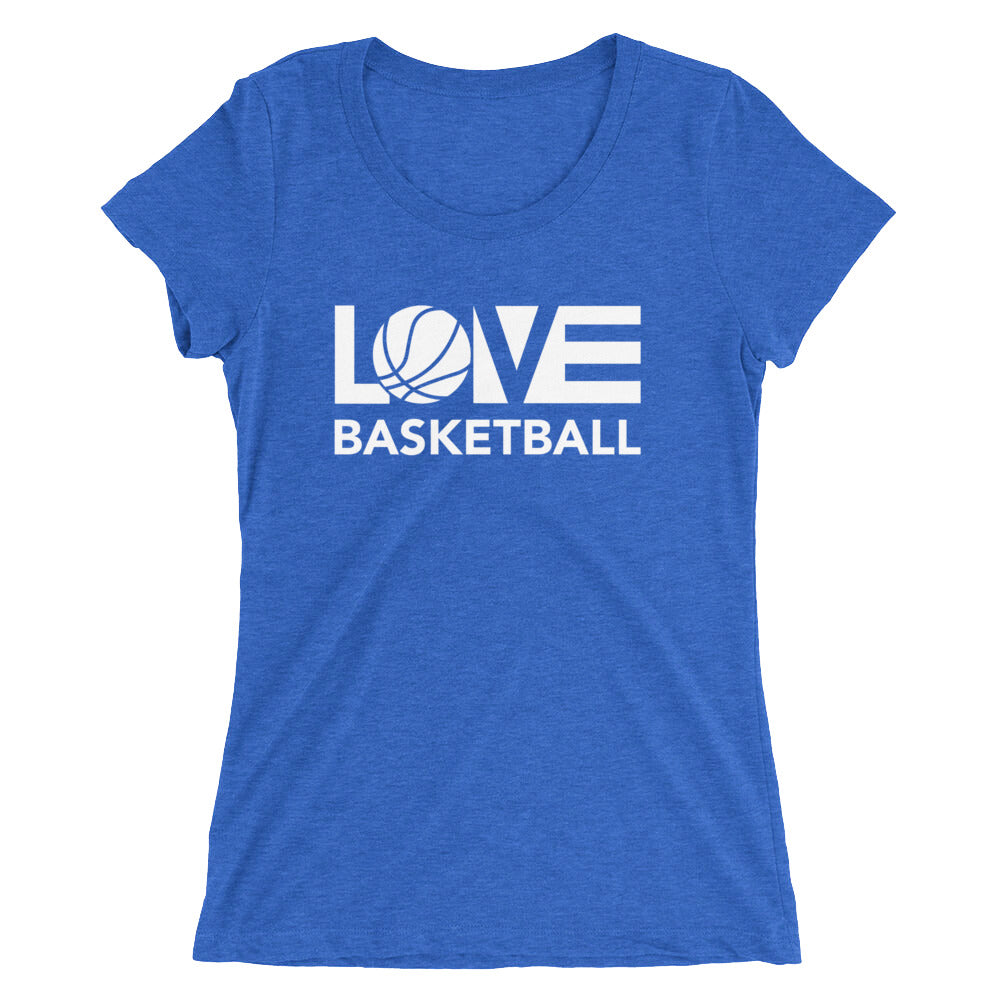 True Royal LOV=Basketball Ultra Slim Fit Triblend Tee