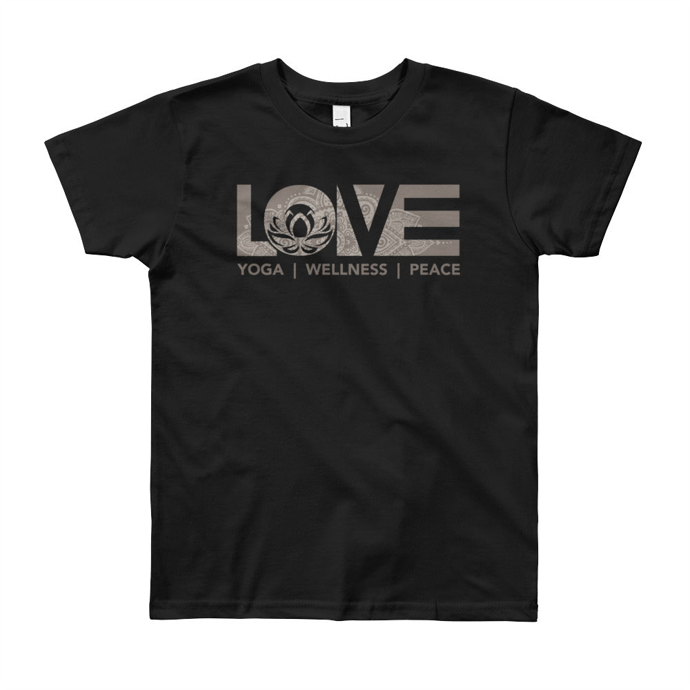 Black LOV=Yoga Youth Tee