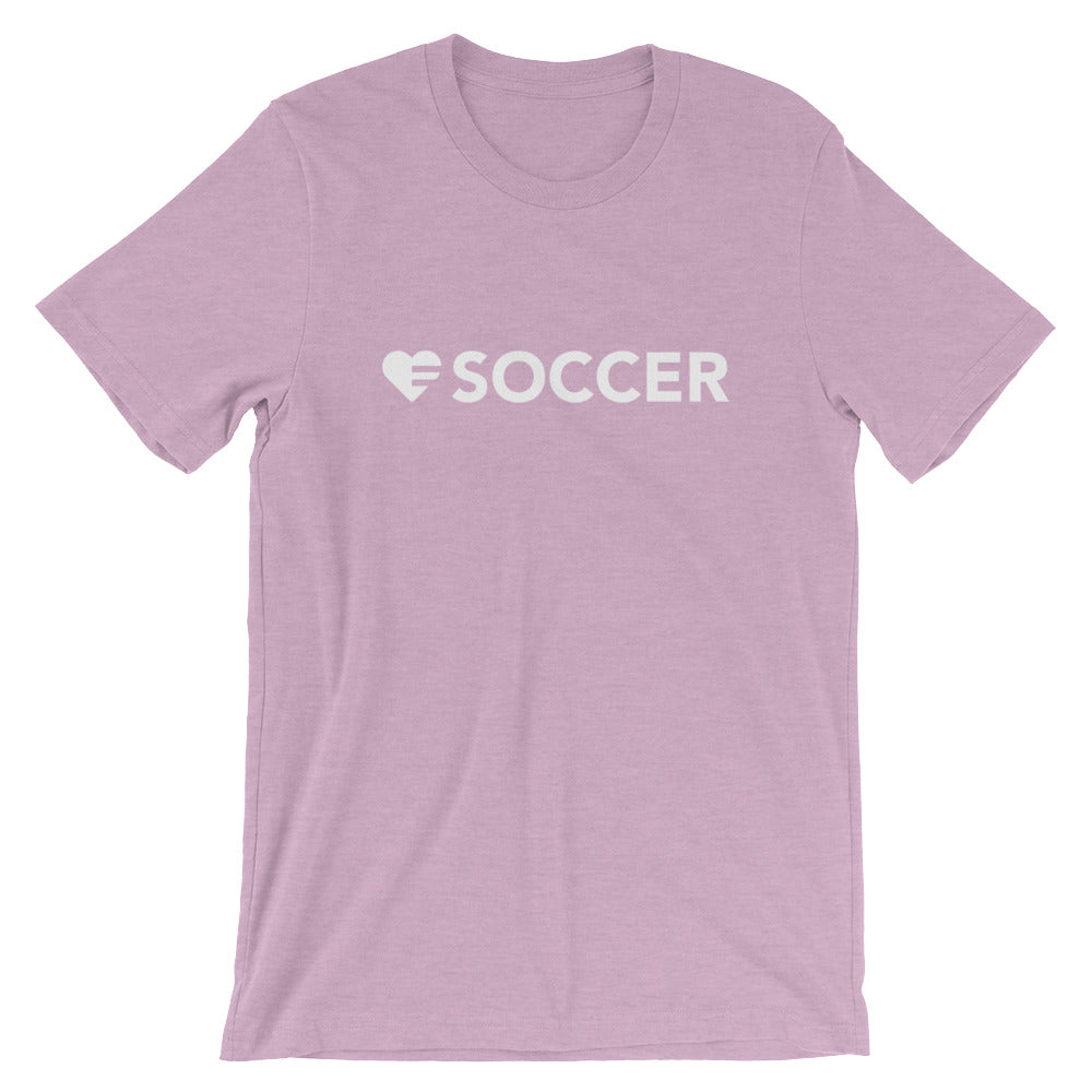 Prism Lilac Heart=Soccer Unisex Tee