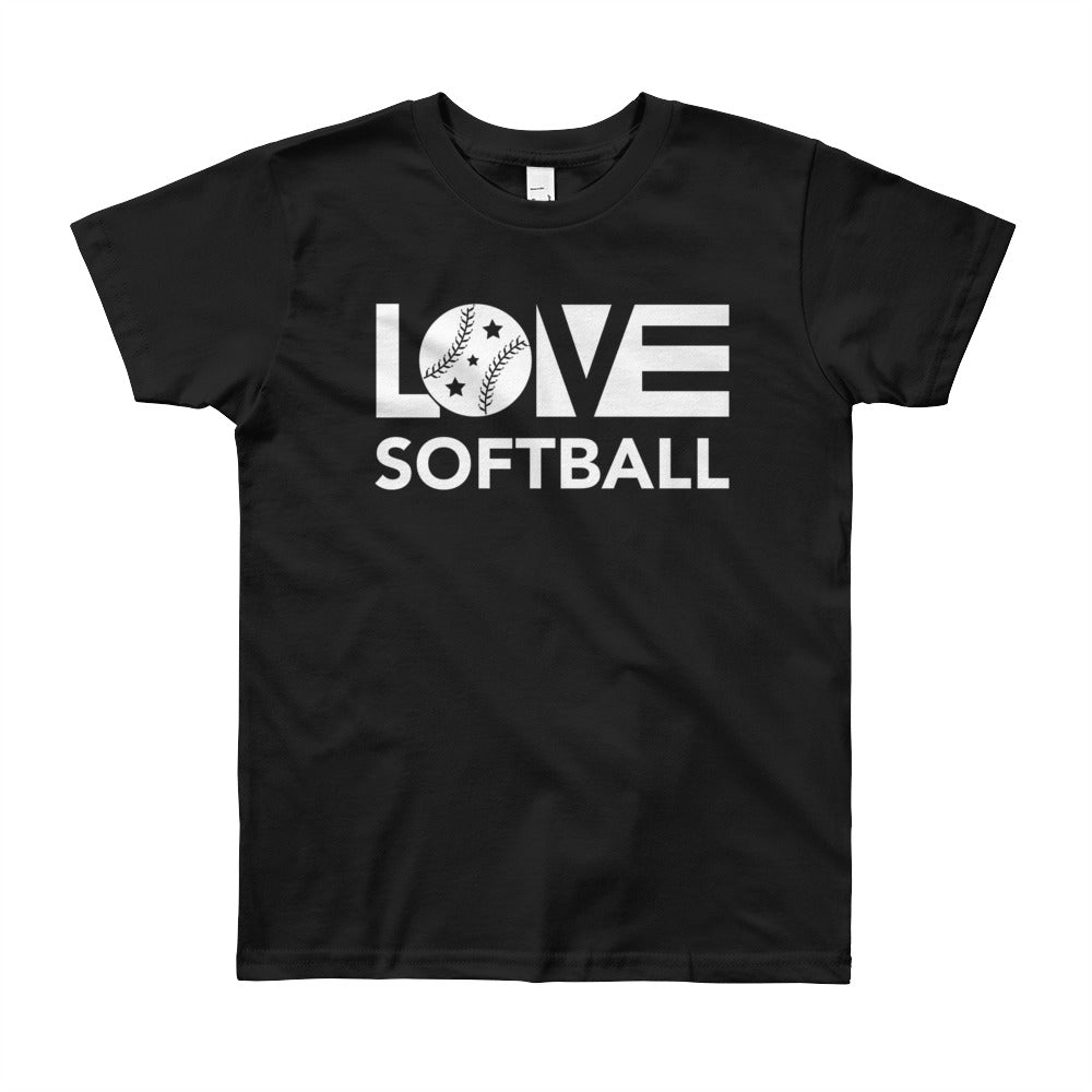 Black LOV=Softball Unisex Tee