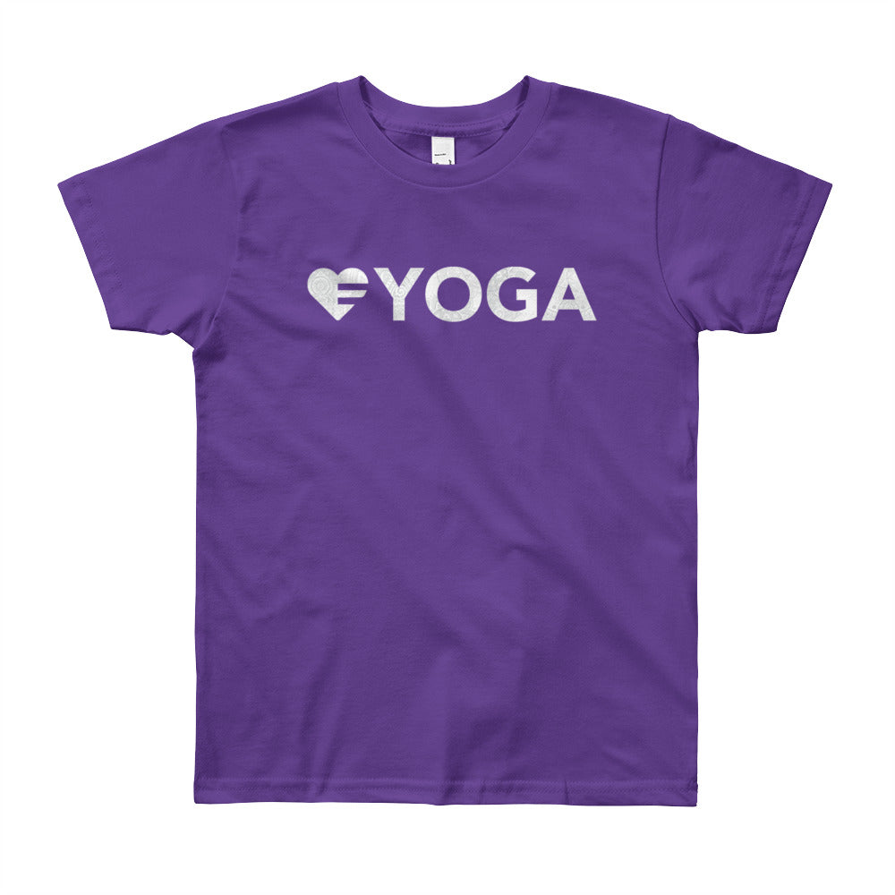 Purple Heart=Yoga Youth Tee