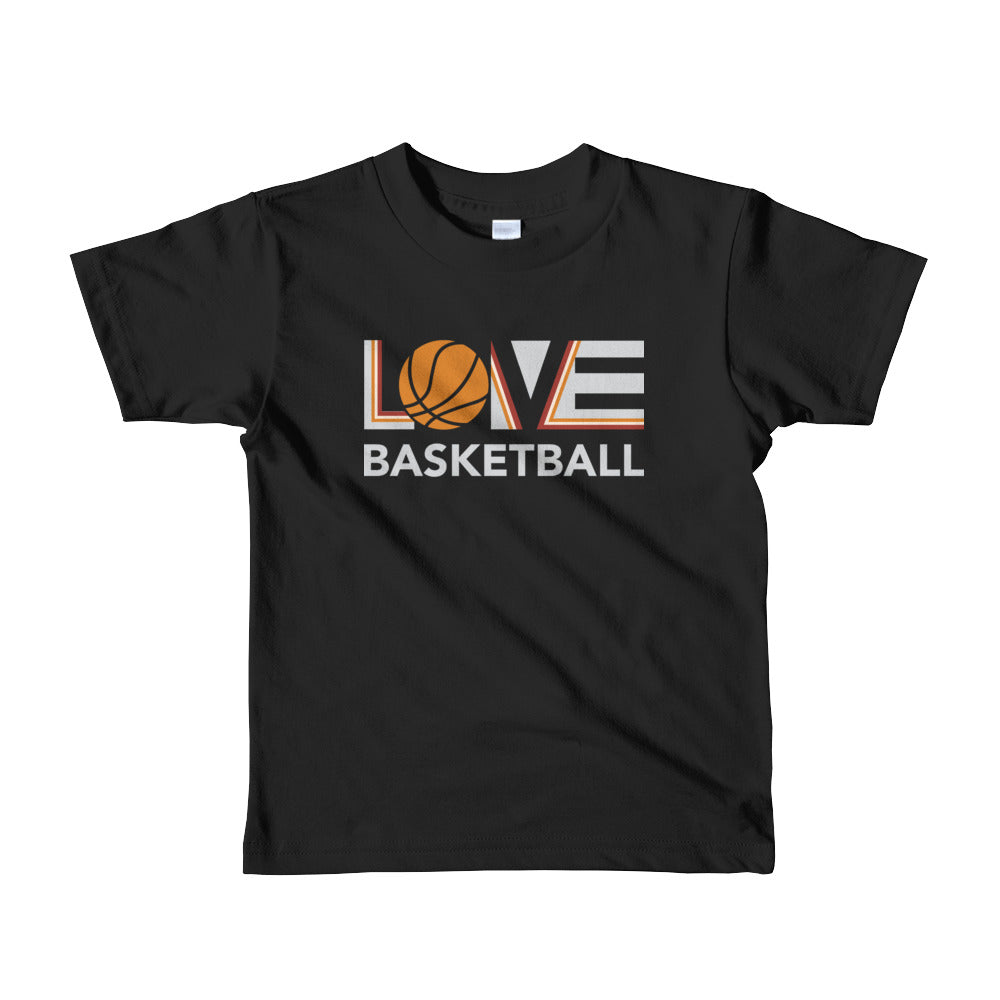 Black LOV=Basketball Kids Tee