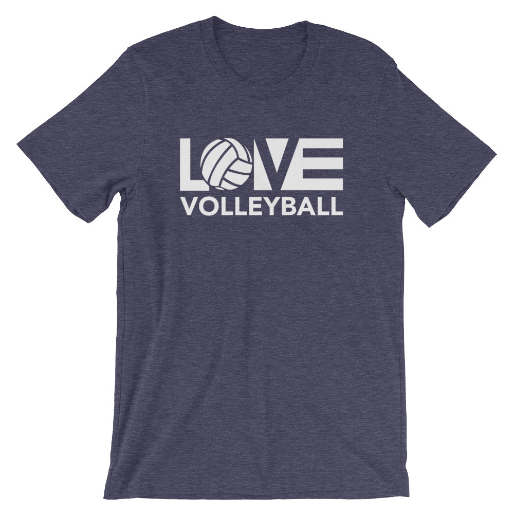 Midnight Navy LOV=Volleyball Unisex Tee