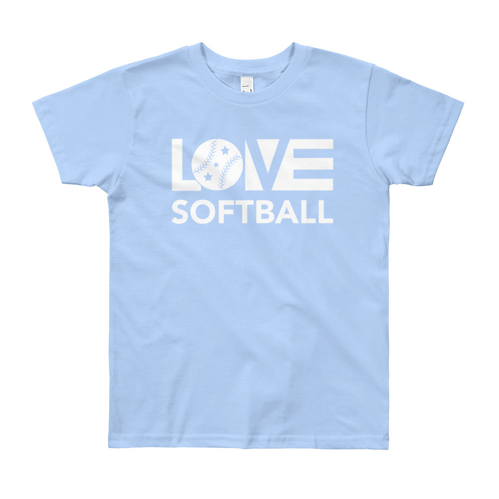 Baby blue LOV=Softball Unisex Tee
