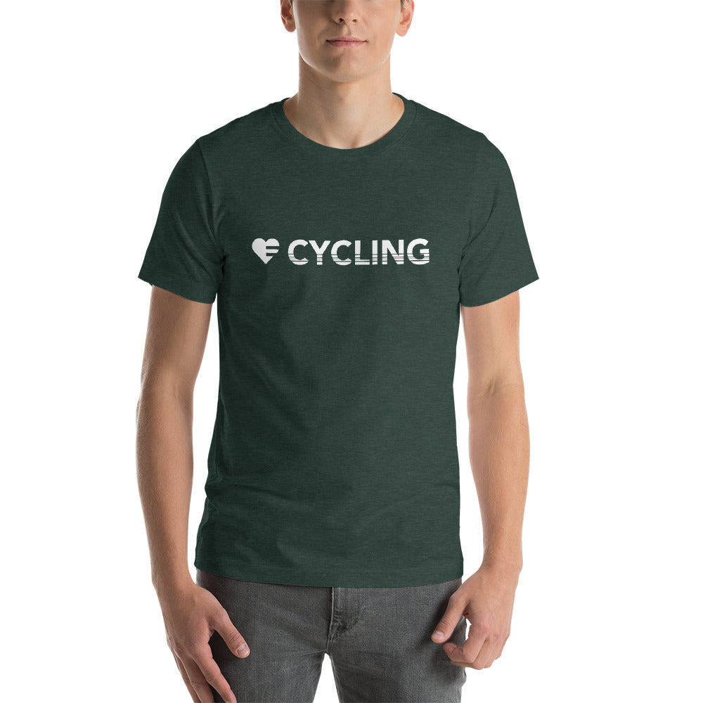 Heather Forest Heart=Cycling Unisex Tee