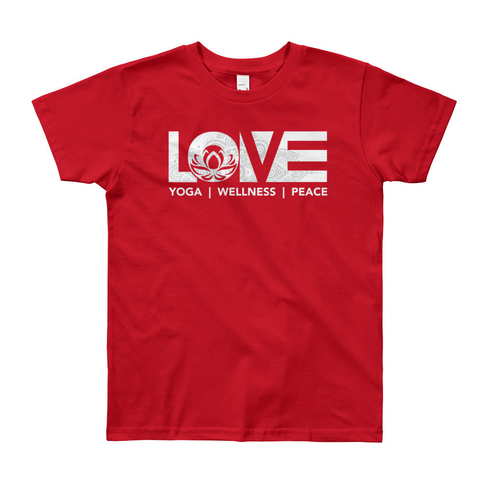 Red LOV=Yoga Youth Tee