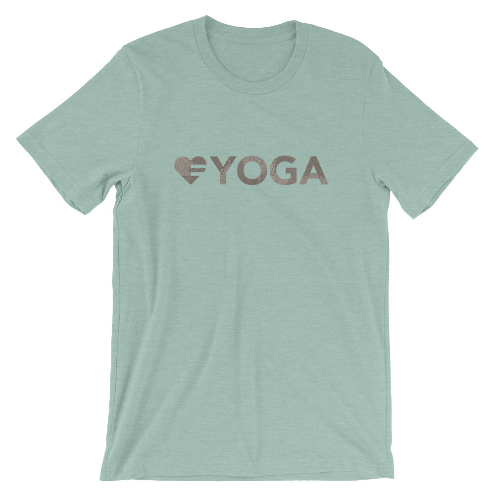 Prism dusty blue Heart=Yoga Unisex Tee