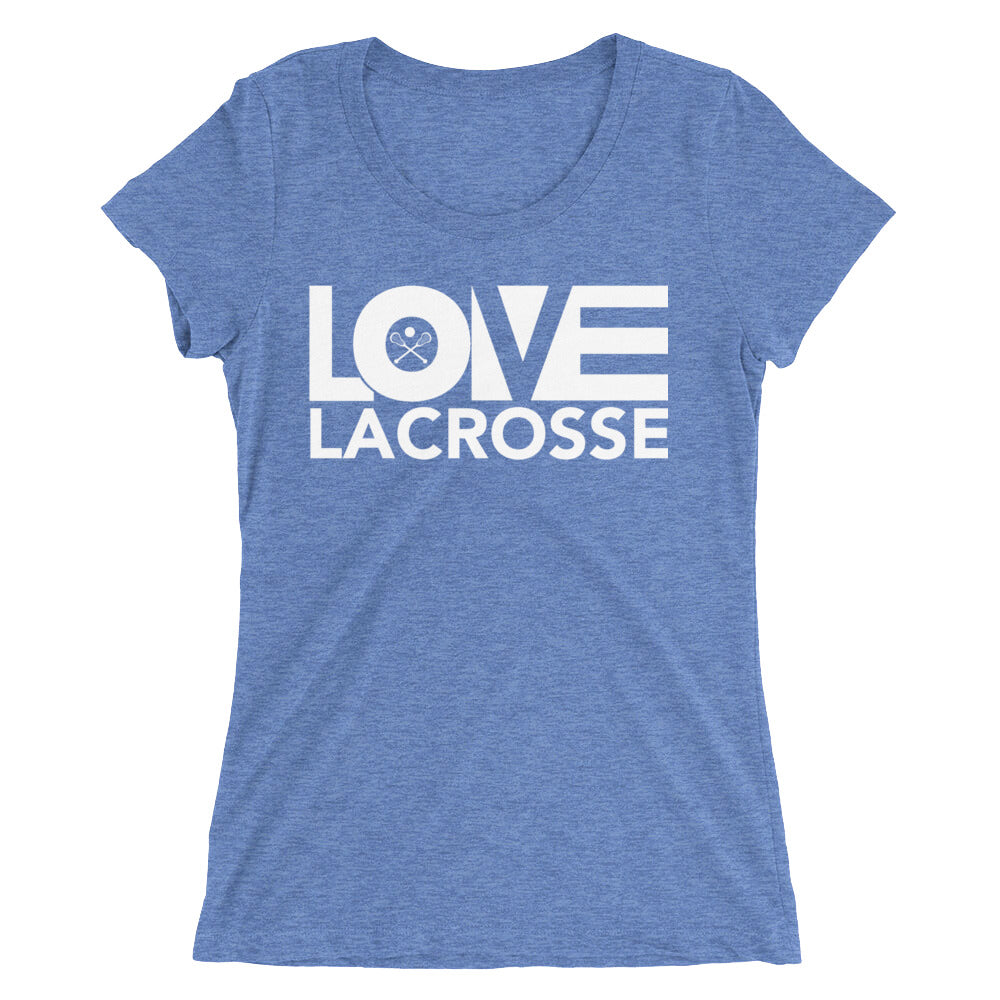 Blue LOV=Lacrosse Ultra Slim Fit Triblend Tee