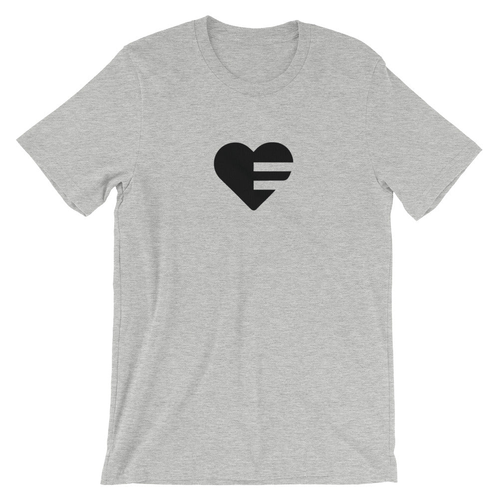 Athletic Heather Solo Heart Unisex Tee