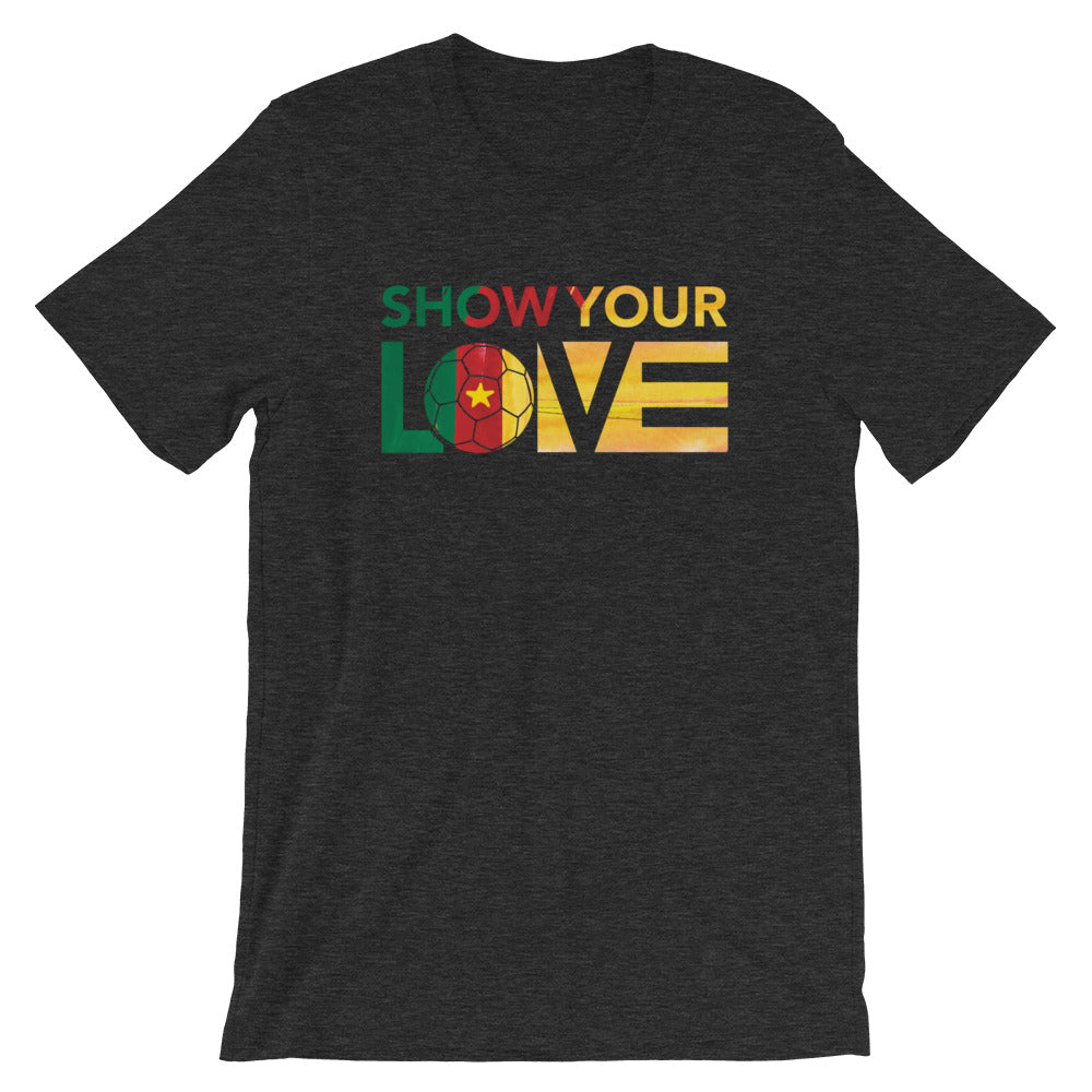 Black Show Your Love Cameroon Unisex Tee