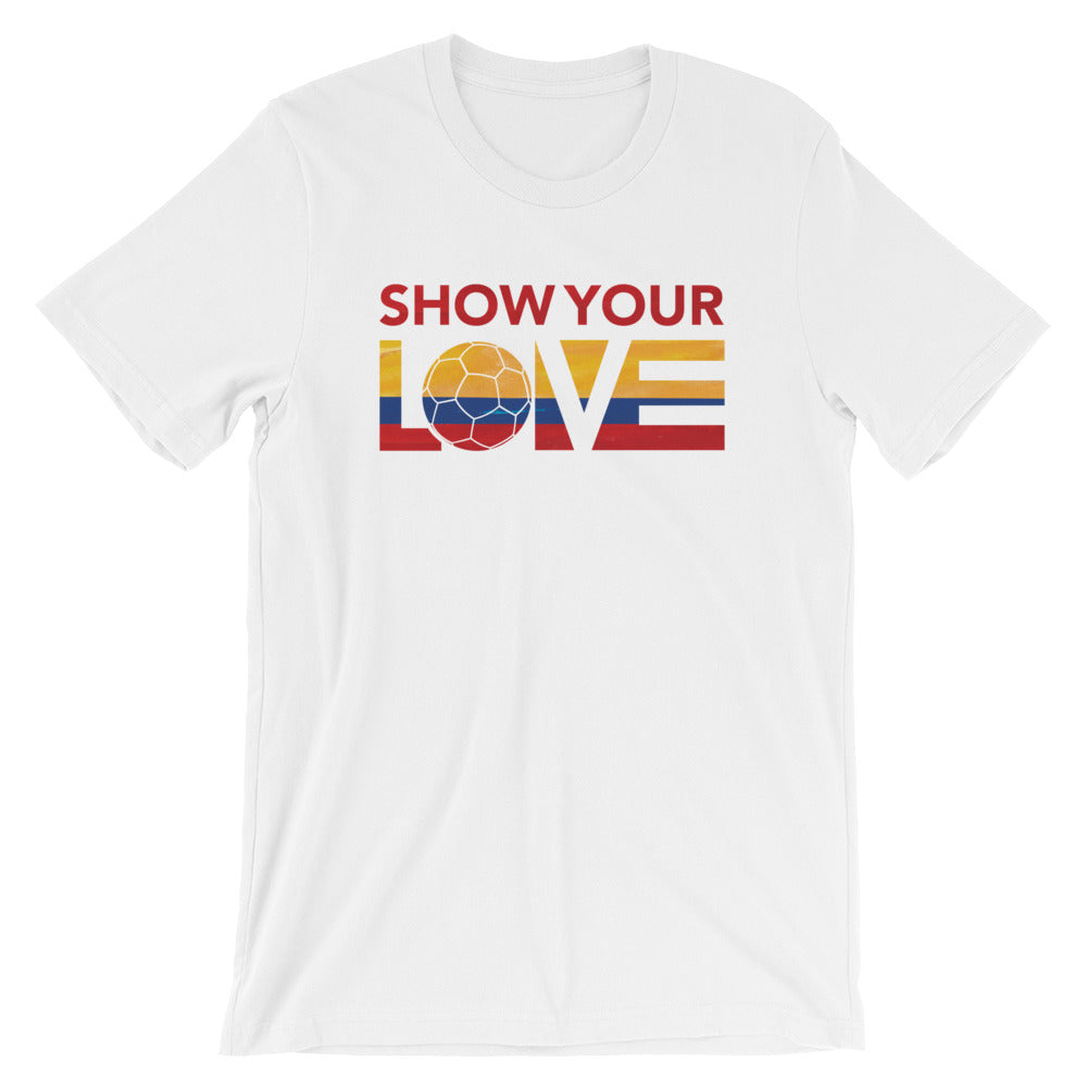 White Show Your Love Colombia Unisex Tee