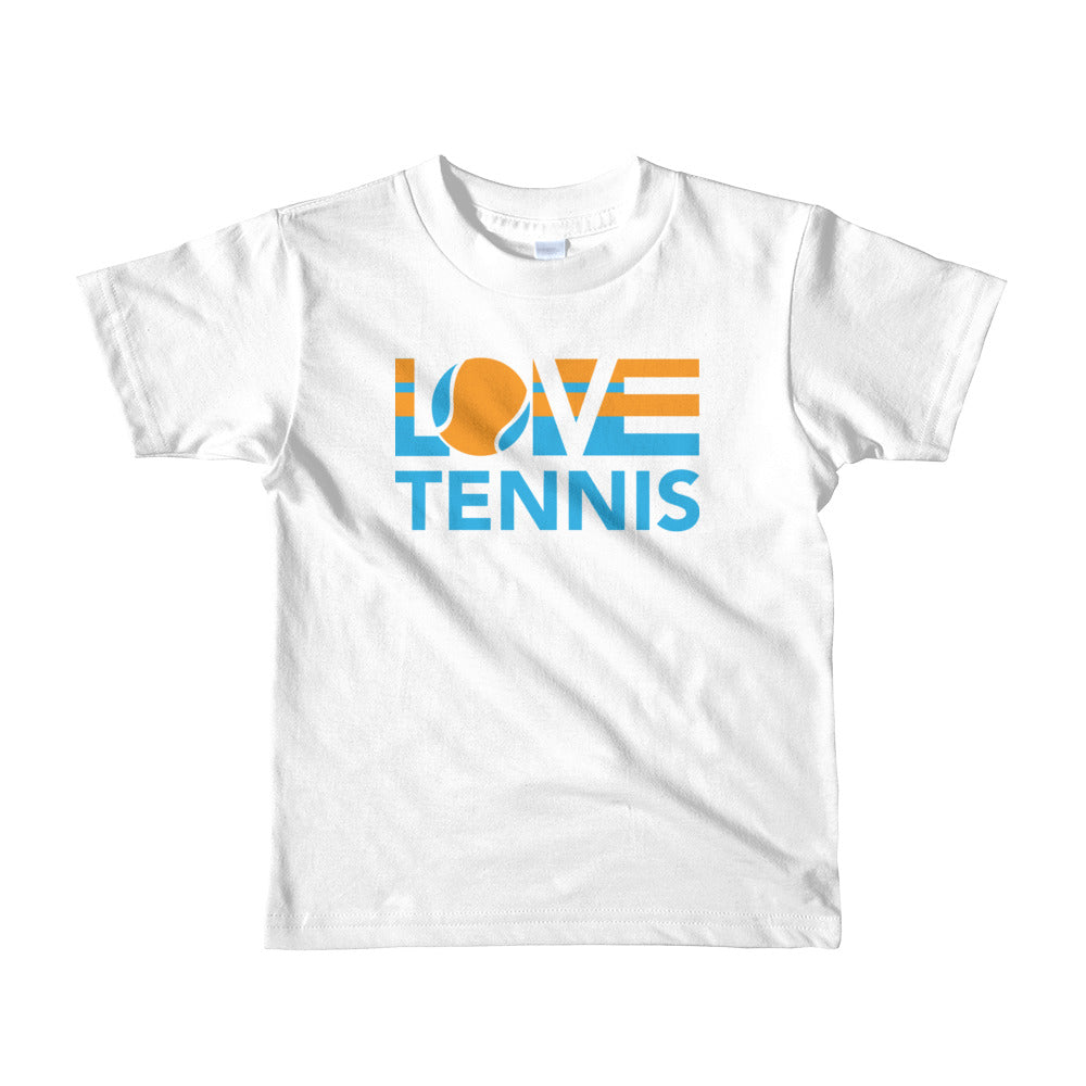 White LOV=Tennis Kids Tee